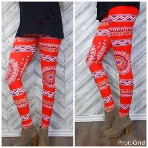 Tribal boho print leggings