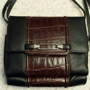 Brighton  Handbags - Brighton Brown / Black Leather Organizer