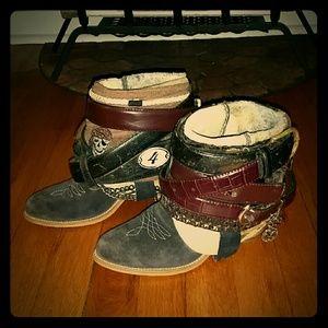 Wolverine Cowboy/ Rustic / Custom Belted Boot 6.5