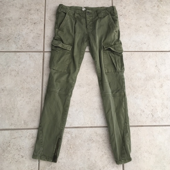 Free People Pants Jumpsuits Army Green Cargo Pants 27 Poshmark