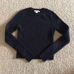 F21 Black Ribbed Sweater