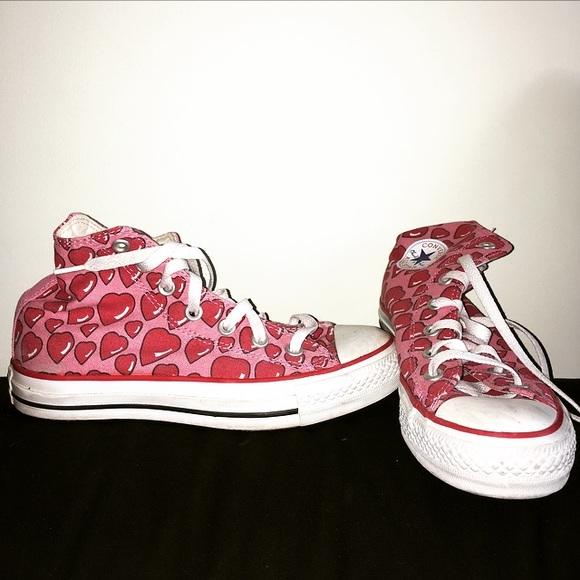 d69619a6c20f Converse Shoes - Converse Heart Print Sneakers