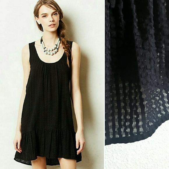 a5854d326d7f Anthropologie Dresses & Skirts - Anthro Maeve Black Drop Waist Ruffle Dress  LBD