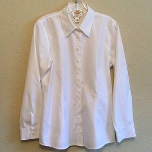 Talbots Wrinkle Resistant White Blouse
