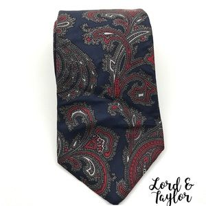 Lord & Taylor Other - Lord & Taylor Paisley Print Silk Tie