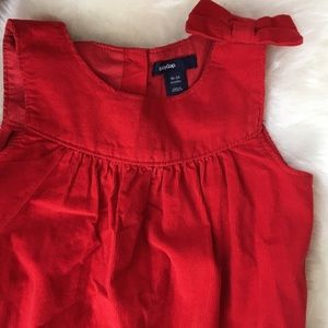 Carter's Other - Corduroy Red Jumpsuit with Bow