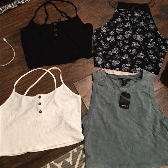 Forever 21 Tops 3 Crop Top Right Floral Soldnot Available Poshmark