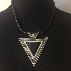 NWT ASOS statement silver and black necklace