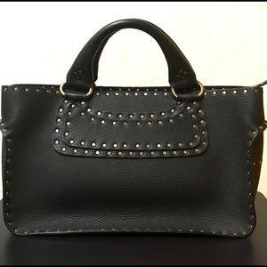 Celine Leather Black Studded Handbag