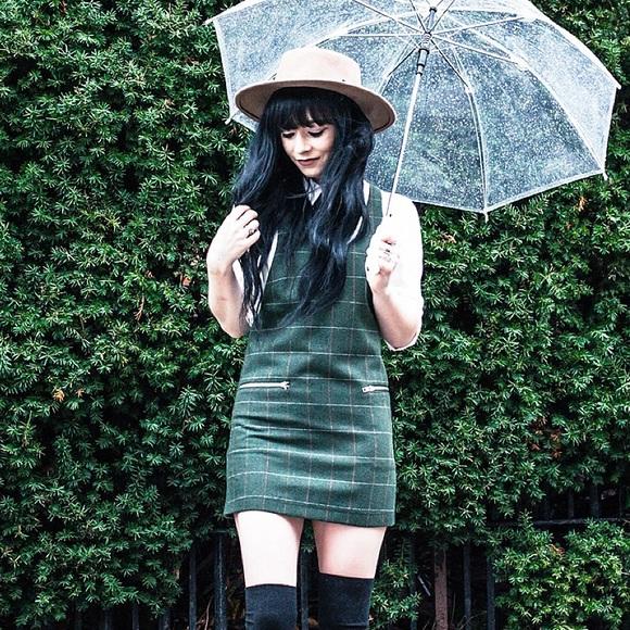f29077fb79 ASOS Dresses   Skirts - ASOS petite green plaid pinafore