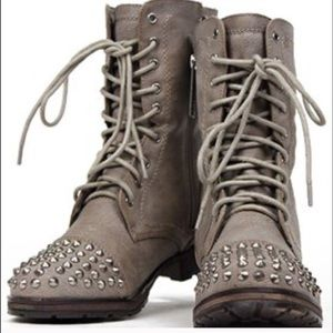 Breckelles Shoes - Studded combat boots