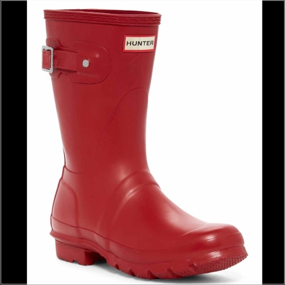 33% off Hunter Boots Shoes - Hunter Original Short Military Red ...