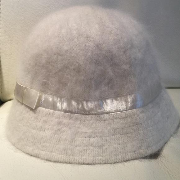 79608541c32 Accessories - Winter White Angora Bucket Hat