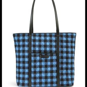 Vera Bradley Tote Bag Alpine Check NWT