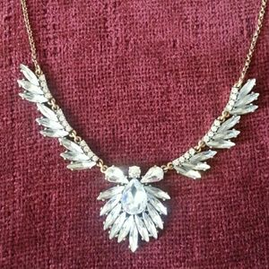 J.Crew Crystal Feathers Necklace