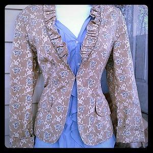 Banana Republic Jackets & Blazers - Banana Republic floral ruffle blazer Medium