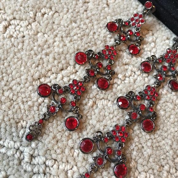 79% off NA Jewelry - SALE🔛🛍Long Red Tiered Chandelier Earrings ...
