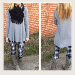 ONE LEFT!Thermal knit tunic - Gray