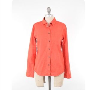 MADEWELL bright red-orange flannel