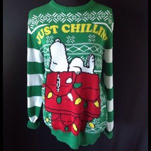 Peanuts Sweaters - Peanuts SNOOPY Ugly Christmas Sweater New Small