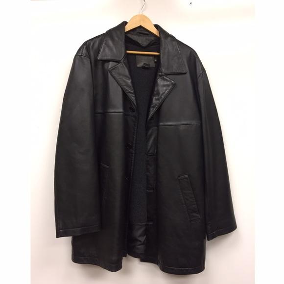 69% off Coach Other - XL New Black Coach Men's Leather Car Coat ...