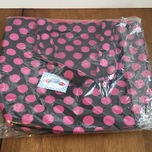 Boutique Bags - Polka Dot Canvas Tote w/ Coin Purse