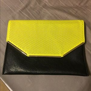 Like new! Black & neon large envelope clutch!