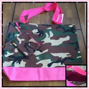 Camo Canvas Tote w/ matching Coin Purse