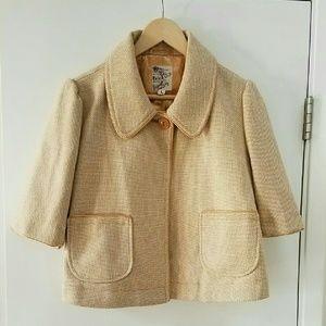 Tulle Jackets & Blazers - NWT Tulle M/L Tweed Herringbone Cropped Jacket