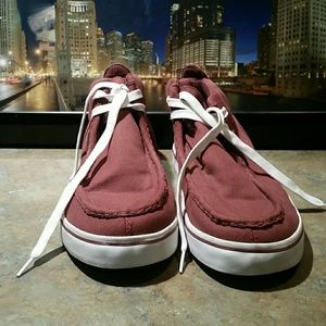 Lugz Other - LUGZ Shoes Strider Lo Canvas Maroon Red Boots 13