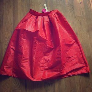 Red midi skirt  Love Culture.