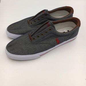 New Mens Polo No Lace Sneakers B4