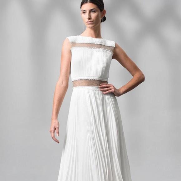 Tadashi Shoji Dresses | Clearancenwt Pleated Gown | Poshmark