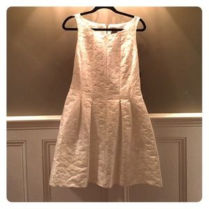 New Beautiful white fit and flair Taylor dress.