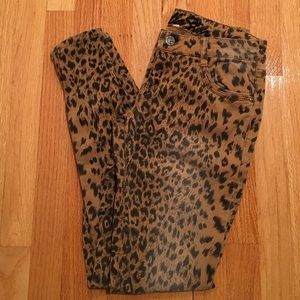 Vanilla Star Denim - Vanilla Star leopard skinny denim