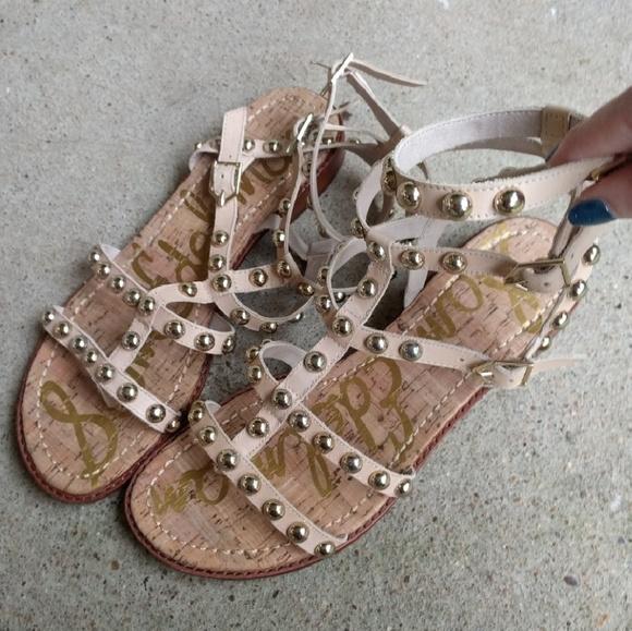 772ce9a1809 Sam Edelman Eavan Studded Gladiator Sandals. M 58546d6a5a49d01a44001667