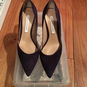 Diane von Furstenberg Shoes - DVF Blue Suede Pump