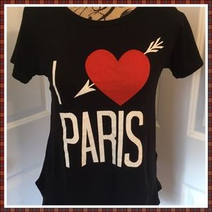 Wildfox I ❤️ Love Paris T-Shirt - NWT - Size XS