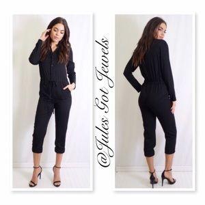 Tea n Cup Pants - Chic Black Pantsuit