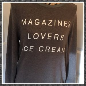Wildfox Magazines Lovers Ice Cream Pullover NWOT S