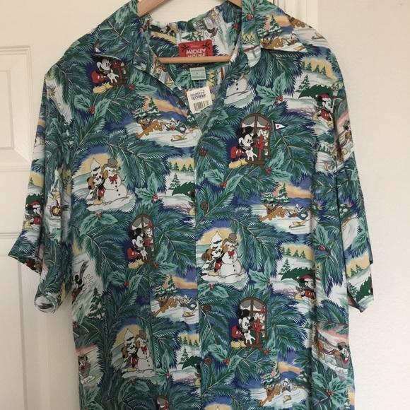Christmas Hawaiian Shirt.Reyn Spooner Disney Christmas Hawaiian Shirt Nwt