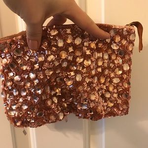 Sequined clutch