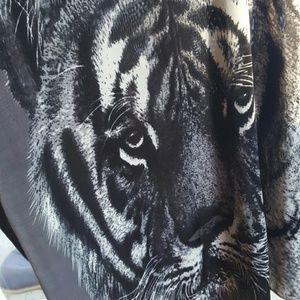 Tiger shirt dress.