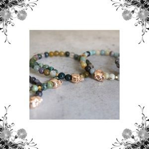 Function & Fringe Jewelry - 🌟2 Left🌟Rose Gold Skull and Gemstone Bracelets
