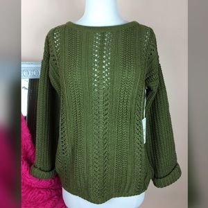 Sweaters - LOWEST PRICE❤️Olive chunky sweater