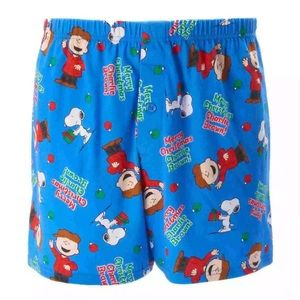 Peanuts Other - Peanuts Charlie Brown & Snoopy Christmas Boxers