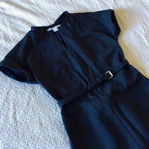 Diane von Furstenberg Dresses & Skirts - DVF Dark blue belt dress