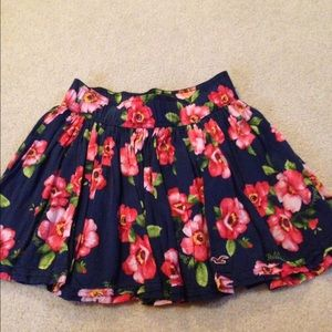 Hollister Other - Final price Navy floral skirt!