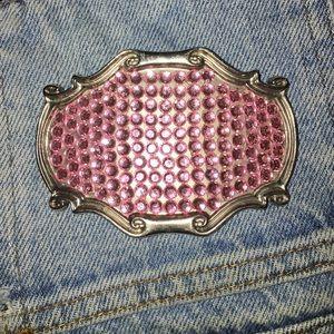 Accessories - Pretty pink jewel belt buckle