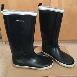 Tretorn Shoes - Tretorn Skerry Reslig navy tall rain boots